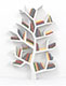 Top Download Stock Image: Tree of knowledge. Bookshelf on white background. 3d